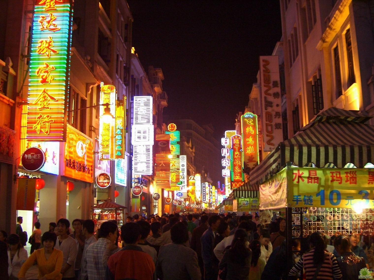 手绘上海古风街景地图