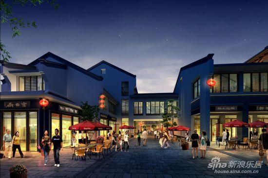 泗阳成源文化广场商业街珍藏商铺5880元/㎡起; 中式商业街图片
