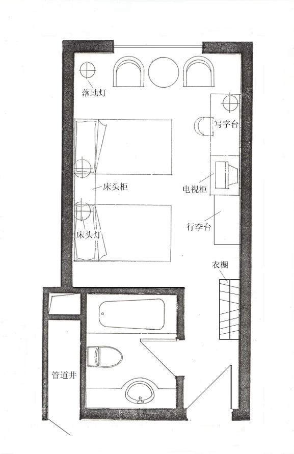 中型酒店结构图