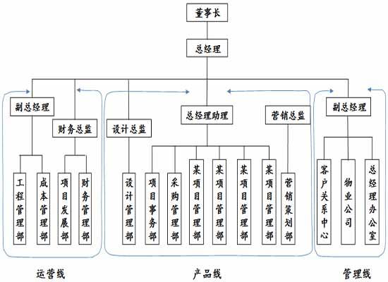 项目部矩阵组织结构图