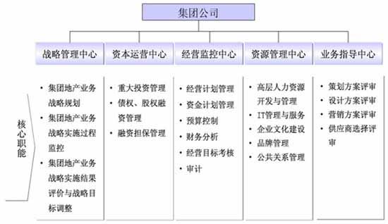 商业管理公司管理结构