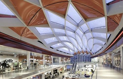 商业规划        一般是每隔100米有一个大的中庭
