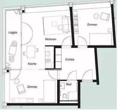 两面采光128平米房屋设计图