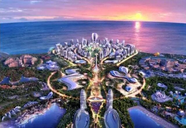 海花岛项目建于海南儋州,是恒大集团在海南国际旅游岛的标杆性文旅
