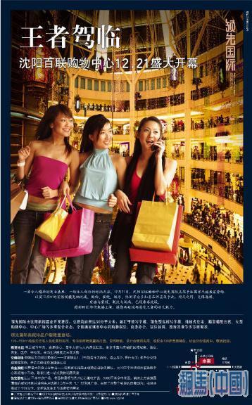 华高莱斯香港又一城案例解构 光大水墨风景-红鹤 百盛海报 新世界海报