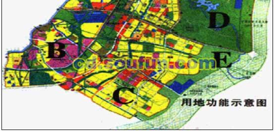 成都市东部新区城市功能区域发展规划
